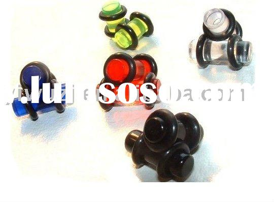 UV STRAIGHT EAR STRETCHER PLUG TUNNEL,flesh tunnel body jewelry,ear plugs body piercing jewlry