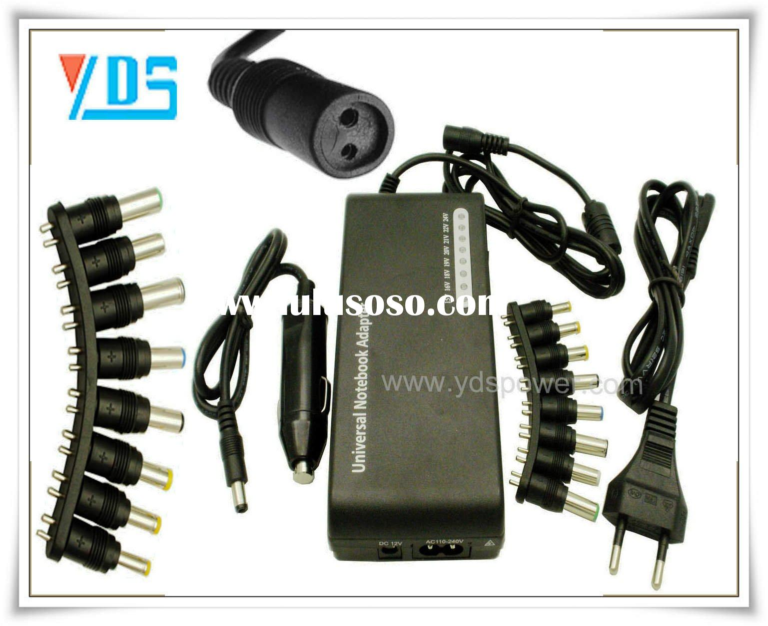 Universal 100W Notebook Power Supply with 8 Interfaces,EU AC Cable