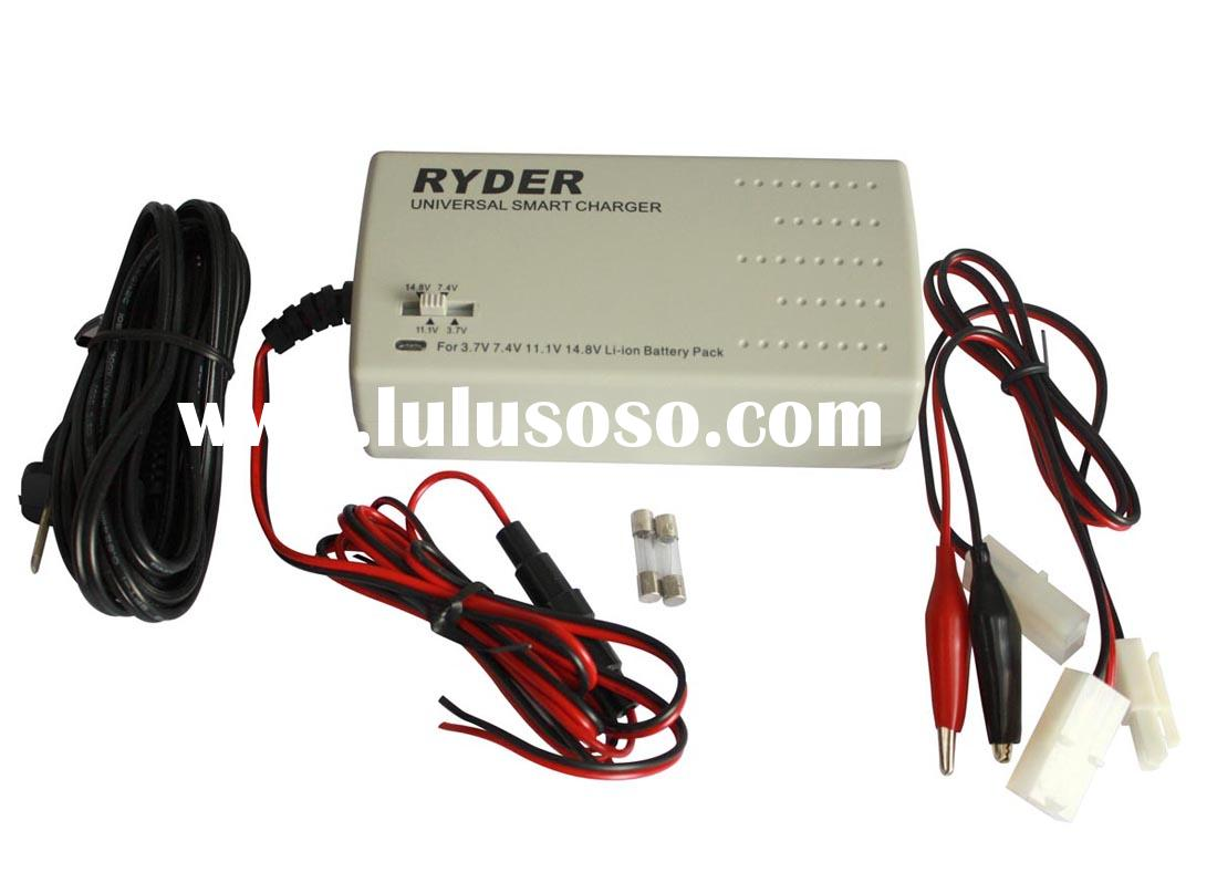 Universal Smart Charger for Li-ion/Polymer battery Pack (3.7V-14.8V, 1-4 Cells)