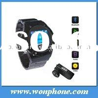 Unlocked MQ888 watch mobile phone with Bluetooth Camera