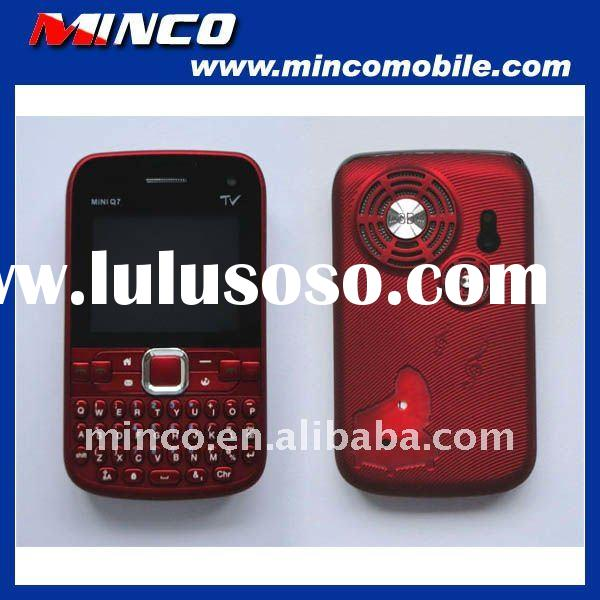 Unlocked Quad Band GSM 3 SIM TV Mobile Phone Mini Q7