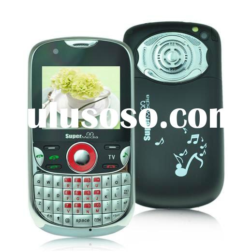 Unlocked Tri-Sim Quad Bands TV/FM Qwerty Keyboard Cell Phone Q11 (accept paypal)