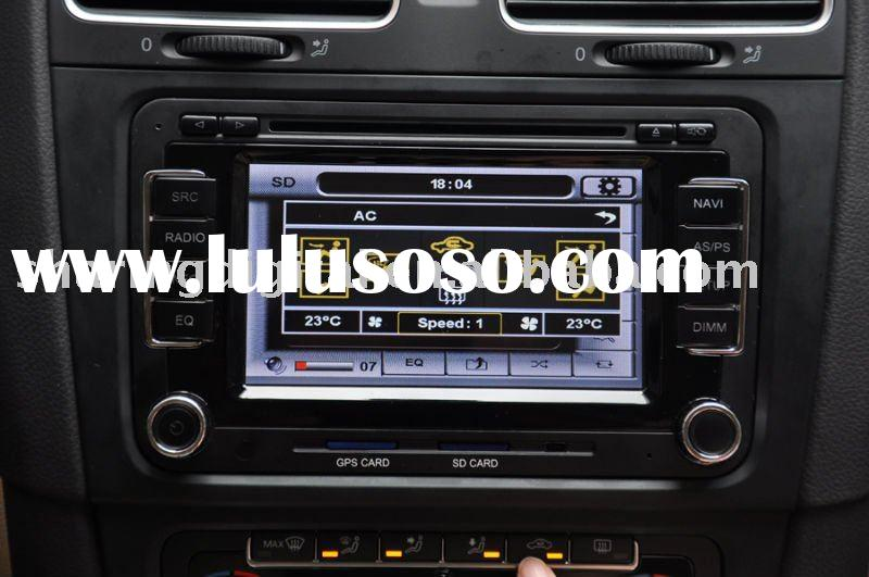 VW DVD Navigation/display air-conditioner temperature on the screen