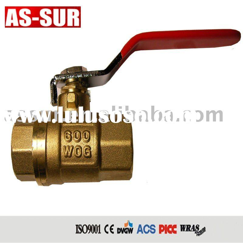 WOG600 brass ball valve with CE certificate