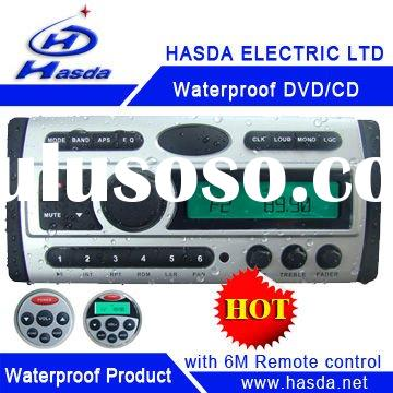 Waterproof DVD with LCD screen and radio used in boat,yacth, Sauna room,bathroom,runabout,Hasda H-30