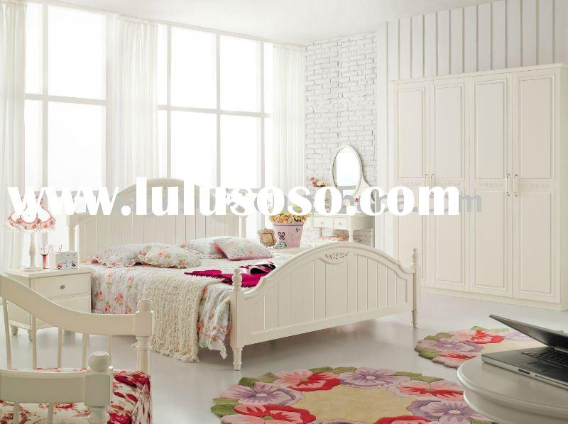 White Mdf & Wooden Furniture Bedroom sets