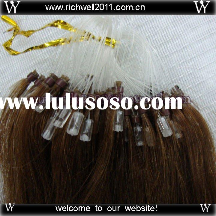 Wholesale-100% India Remy human hair,Loop/Micro Ring Hair Extensions.0.5g/strand 100strands/pc,18&am