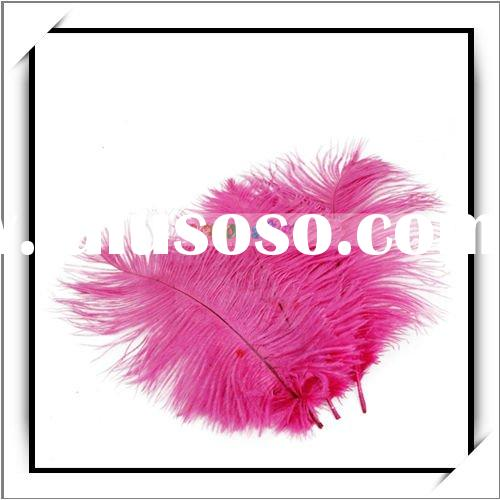 Wholesale 10pcs Rose Red Ostrich Feather For Wedding Decor Features 1