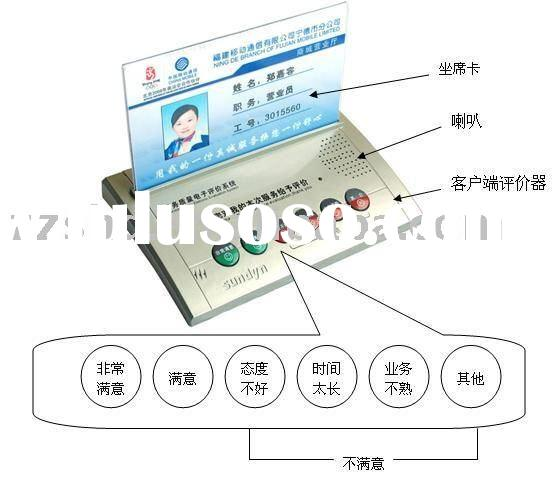 Widely used service quality customer evaluation device used to service hall and business window