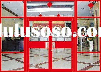 With fixed frame aluminum alloy profile double glass door for restaurant