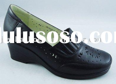 Womens genuine leather height increasing shoes with arch support