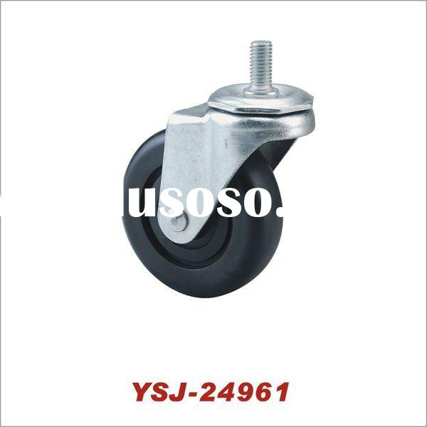 YSJ-24961 Medium-duty Caster wheel 4'' PP Caster Threaded Stem Caster