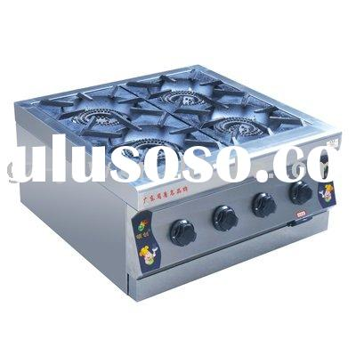 )Four burners gas desktop oven LC-BZL-4(TS) for commercial kitchen equipment passed ISO9001