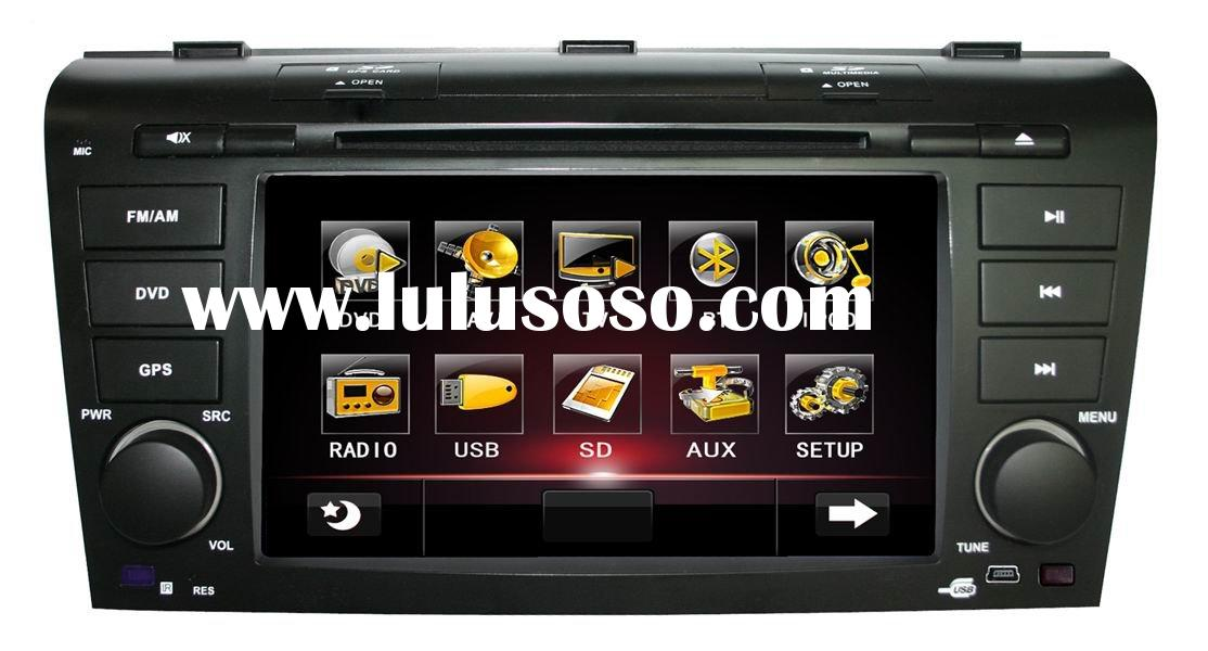 "(MAZDA 3) 7"" in dash car GPS DVD player with CAN BUS + TV + radio, bluetooth"