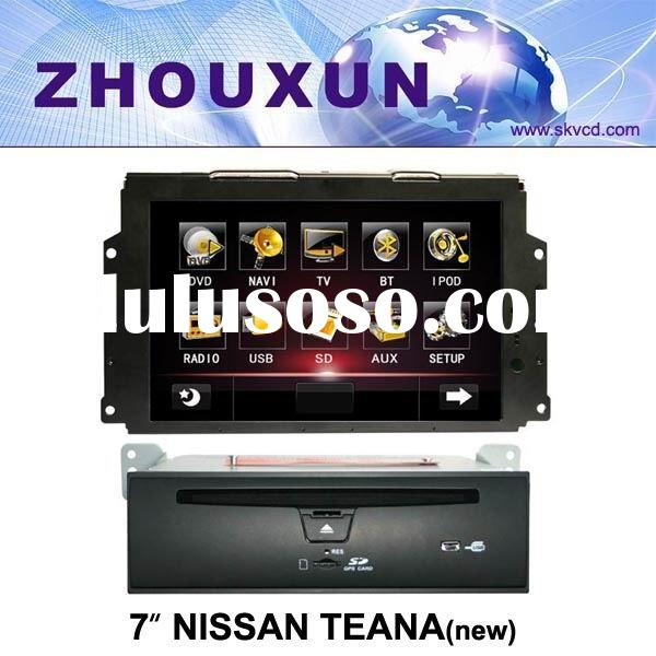"(NISSAN TEANA(new)) 7"" HD digital in-dash car GPS DVD player, with TV,radio, bluetooth, iPOD"