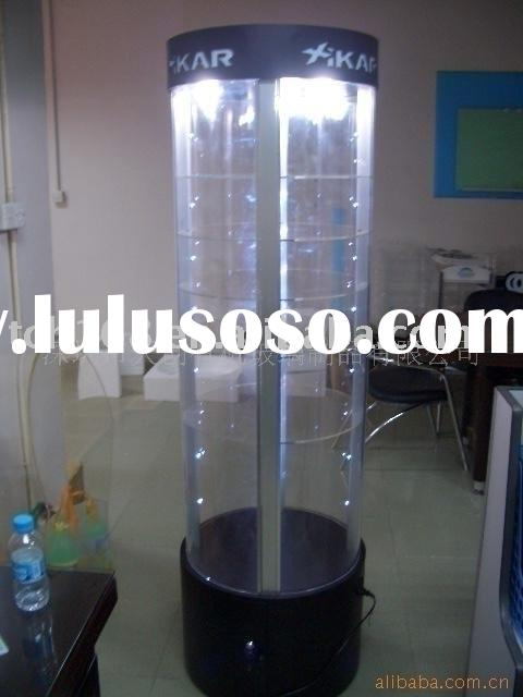 acrylic rotating large display cabinet