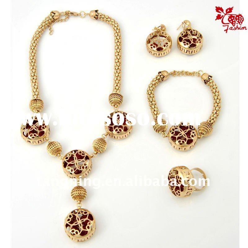 african gold plating jewelry set