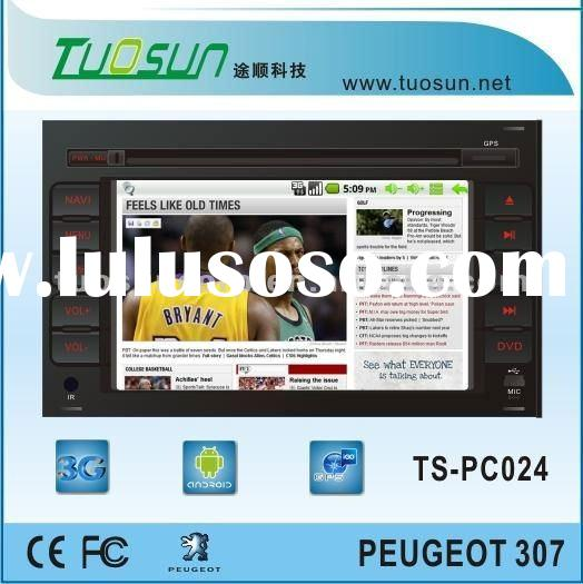 android car pc with gps bluetooth wifi 3g for Peugeot 307 dual core CPU