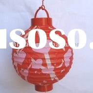 battery operated paper lantern(red)