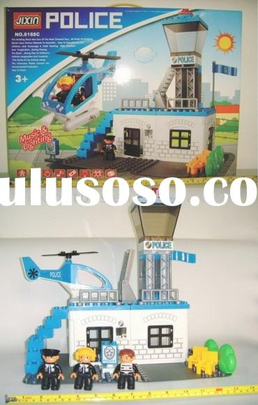 battery operated plastic building block toy set