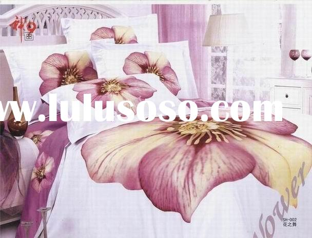 bedding set/4pcs bedding set/comforter-Dance of the flowered bedding set