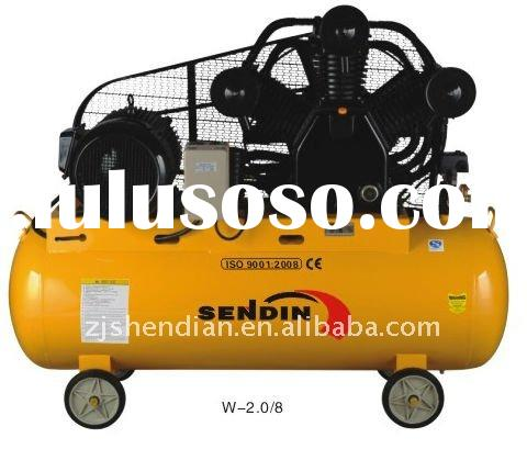 belt driven industrial piston air compressor