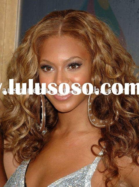 beyonce curl brazilian hair silk top lace wig