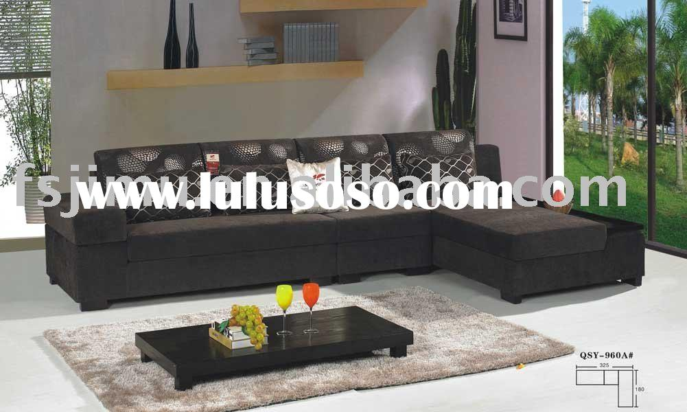 black fabric cushion home furniture low seat sofa set