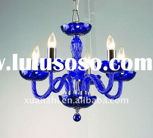 blue glass chandelier pendant lamp MD6010-5(BLUE)