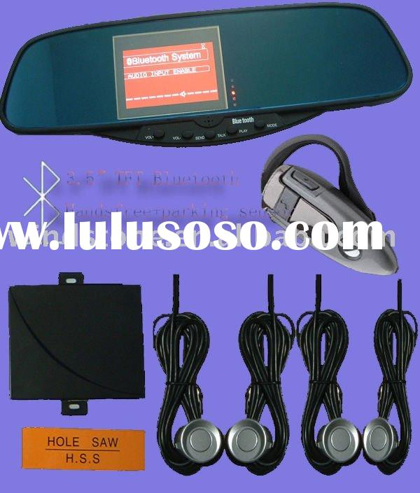 bluetooth rearview mirror, stereo mp3 player with car DVD input, and audio input