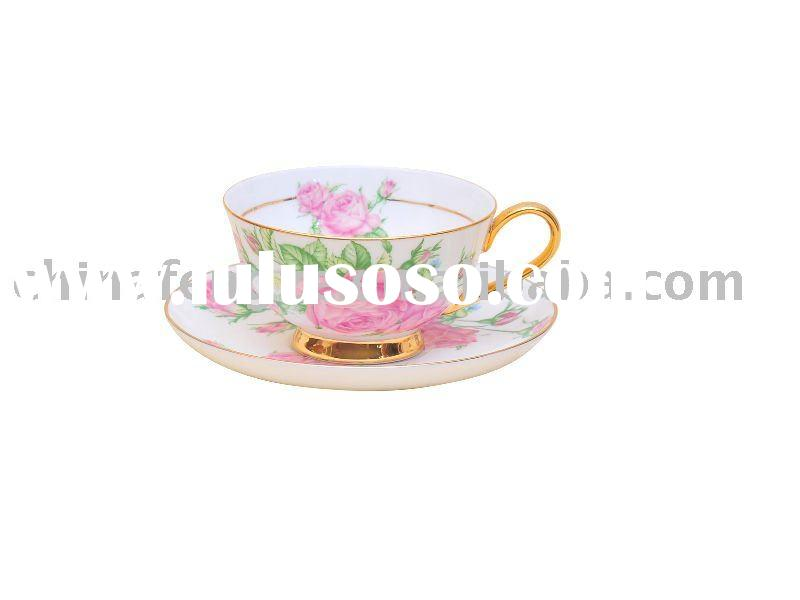 bone china tea cup and saucer, porcelain ware