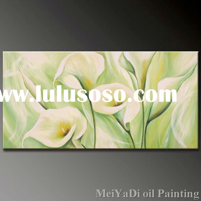 canvas flower oil painting