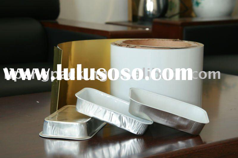 colored coated aluminum foil for food container