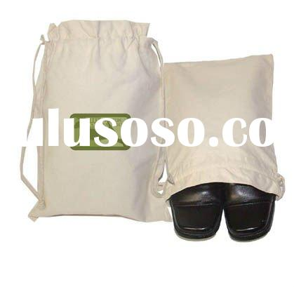 cotton canvas shoe bag with drawstring for promotion