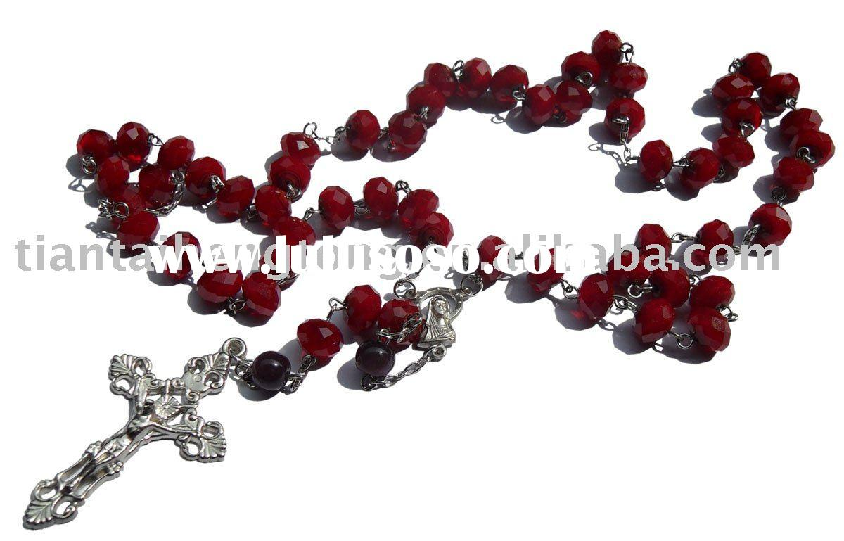 crystal rosary/rosary necklace