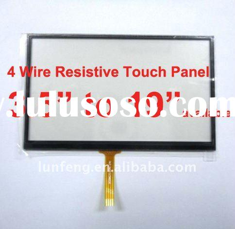 custom-made 7 inch 4 wire resistive touch screen panel
