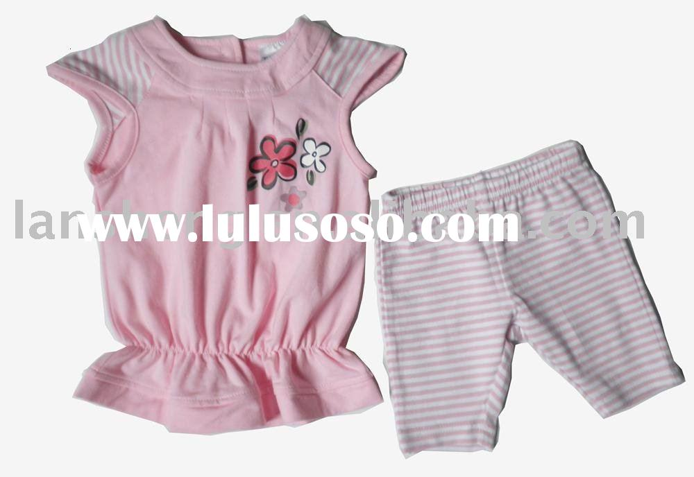 cute baby cotton summer 2pcs clothing sets,baby wear