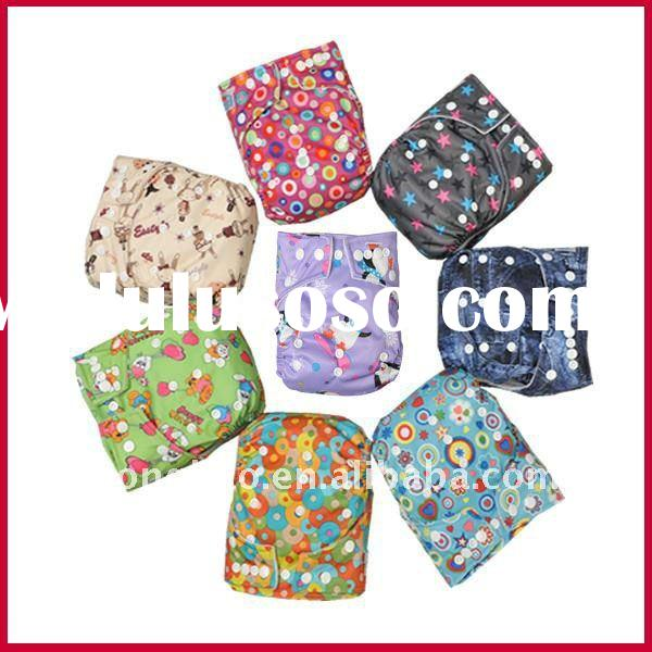 cute pattern waterproof one size babyland baby cloth diaper wholesales