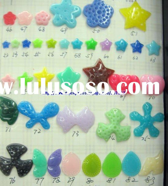 cute resin flat back beads jewelry,kids resin hair accessories