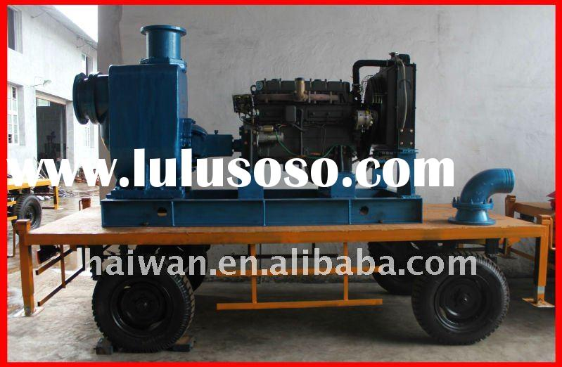 diesel water pump, centrifugal type, engine driven, with trailer
