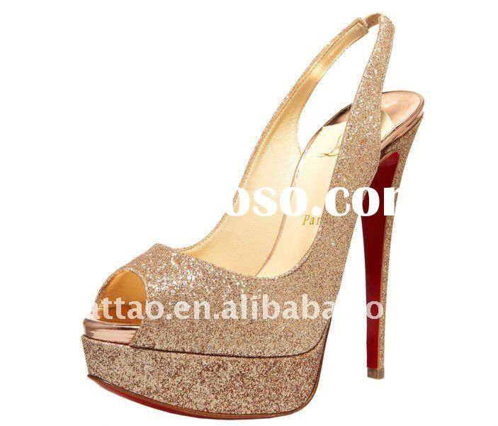 dropship twinkling lady's high heel shoes+paypal