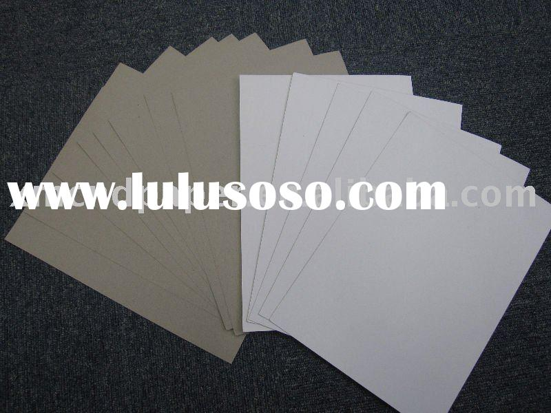 duplex paper board with gray back