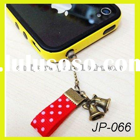 dustproof plug for Christmas earphone jack pin pearl ear caps cell phone accessories for iphone 4