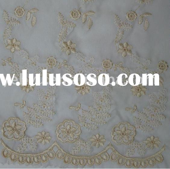 elegant embroidered silk curtains fabric