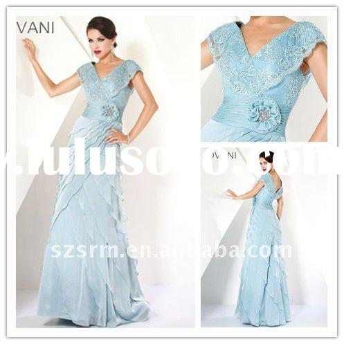 elegant off-shoulder ruffle light blue long formal evening dress