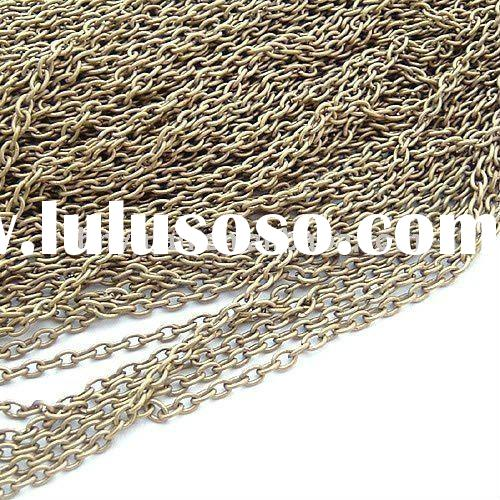 fashion 3mm antique bronze iron chains for jewelry fitting decorative metal chains