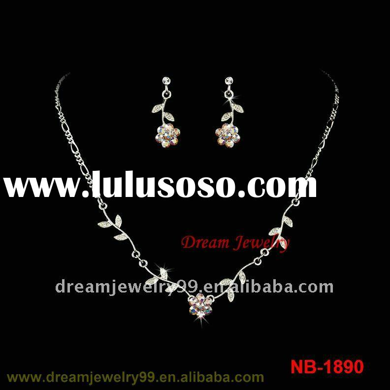fashion bridal alloy necklace set