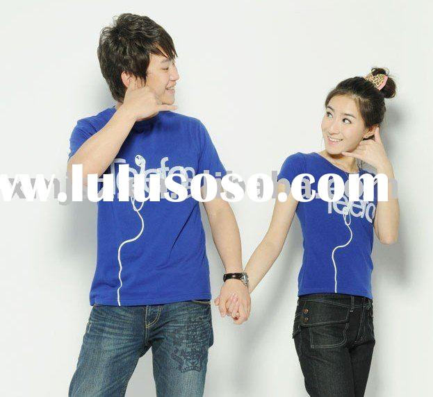 fashion customized couple t shirt for lovers