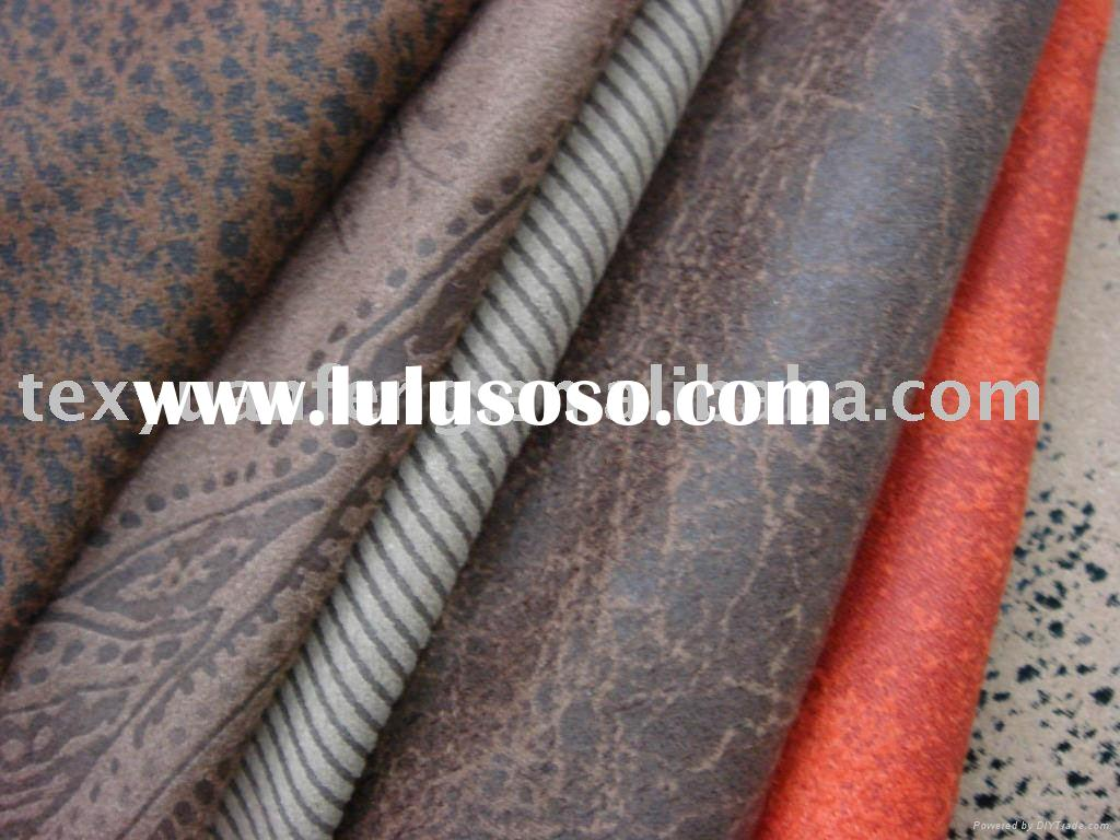 faux suede upholstery fabric/synthetic suede fabric