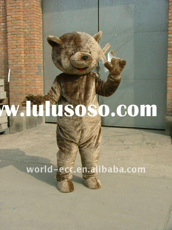 fur brown bear mascot costume, cartoon costume, fancy dress costume